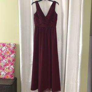 Sorella Vita burgundy gown